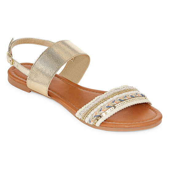 Mixit Womens Friendship Dual Band Wedge Sandals