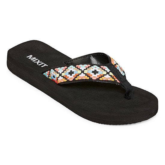 Mixit Womens Ribbon Thong Flip-Flops