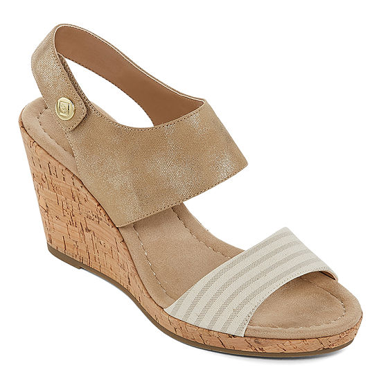 St. John's Bay Womens Quarry Wedge Sandals