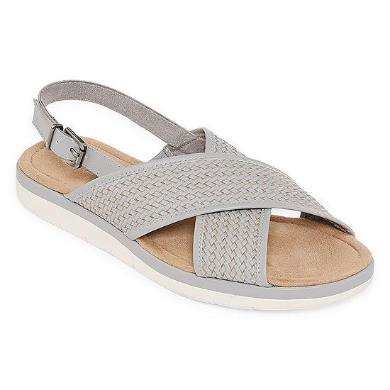 St. John's Bay Womens Alisa Slingback Strap Flat Sandals