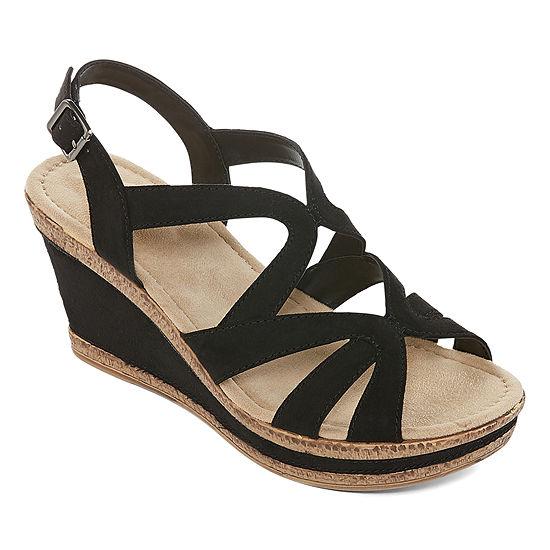 St. John's Bay Womens Barnes Wedge Sandals