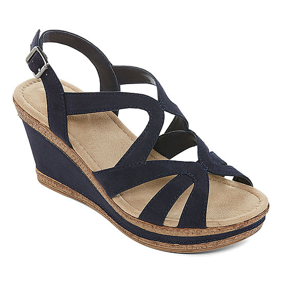 768bc313af411 St. John s Bay Womens Barnes Wedge Sandals - JCPenney