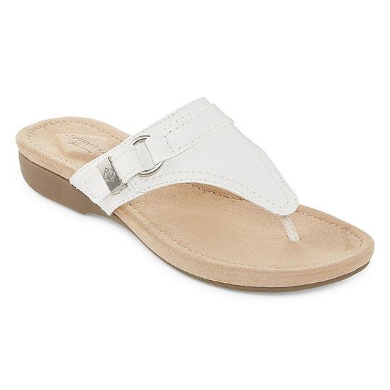 St. John's Bay Womens Zandora T-Strap Flat Sandals
