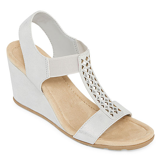21caec81412e St. John s Bay Womens Sjb Luna Wedge Sandals - JCPenney