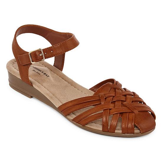St. John's Bay Womens Danton Wedge Sandals