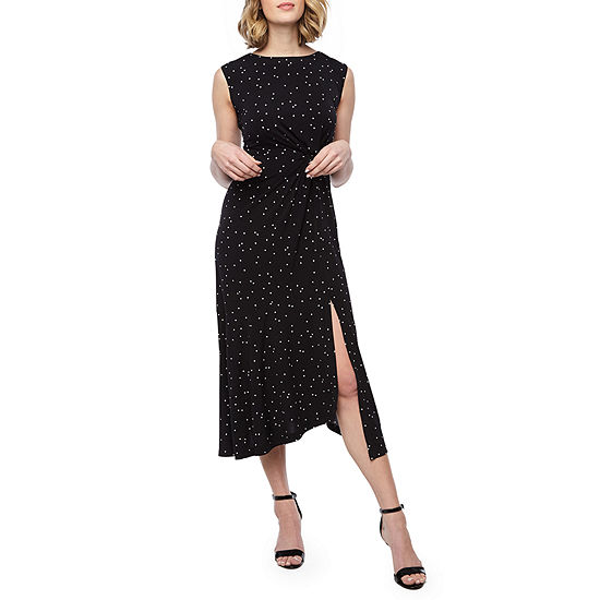 Danny Nicole Sleeveless Dots Fit Flare Dress