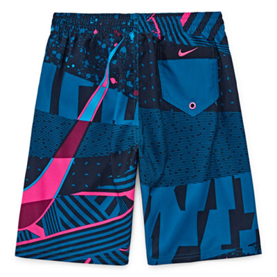 Nike Boys Logo Swim Trunks-Big Kid
