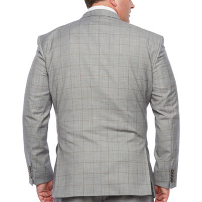Stafford Windowpane Classic Fit Stretch Suit Jacket-Big and Tall