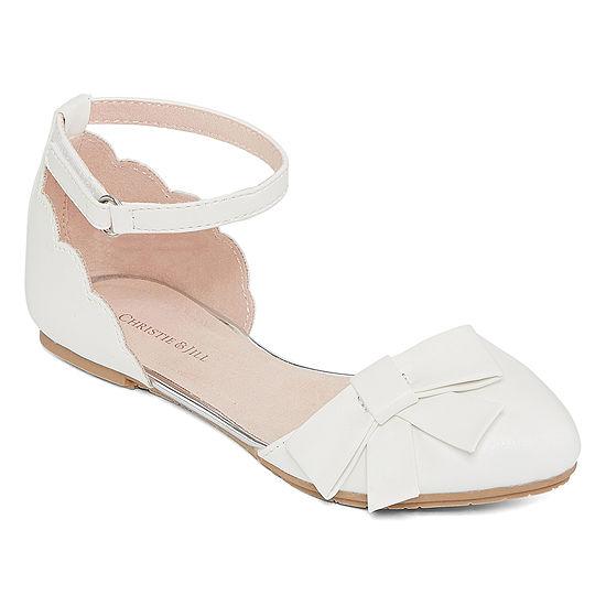 Christie & Jill Little Kid/Big Kid Girls Tapioca Ballet Flats Closed Toe