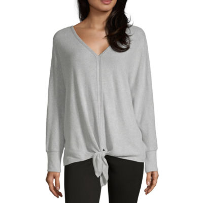 Alyx Womens V Neck Long Sleeve Pullover Sweater