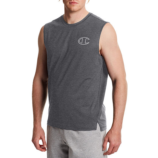 Champion Mens Crew Neck Sleeveless Moisture Wicking Muscle T-Shirt