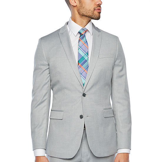 JF J.Ferrar Light Gray Tic Classic Fit Suit Separates