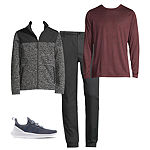 Dylan's Faves: Quilted Jacket, Long-Sleeve Tee, Tapered Pant, & adidas Running Shoes