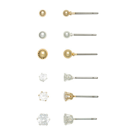 Mixit Hypoallergenic Earring Set, One Size , Gray
