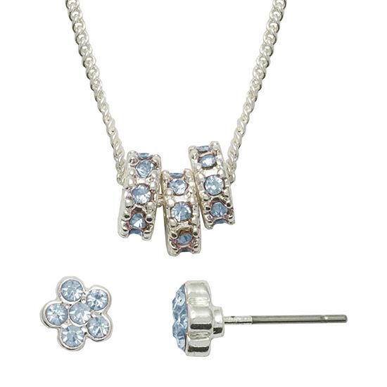 Mixit Hypoallergenic Blue Flower 2-pc. Jewelry Set