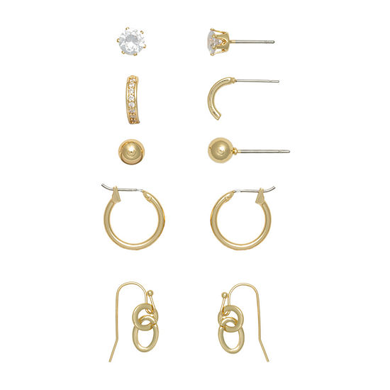 Mixit Hypoallergenic 5 Pair Earring Set