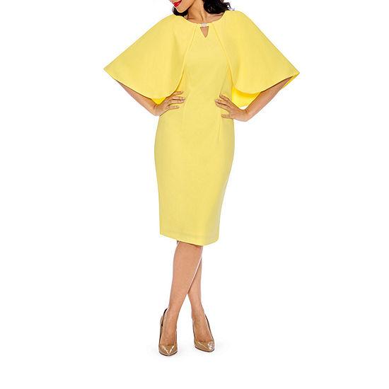 Giovanna Signature Short Sleeve Embellished Shift Dress