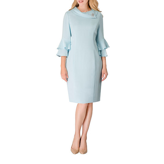 Giovanna Signature 3/4 Sleeve Shift Dress