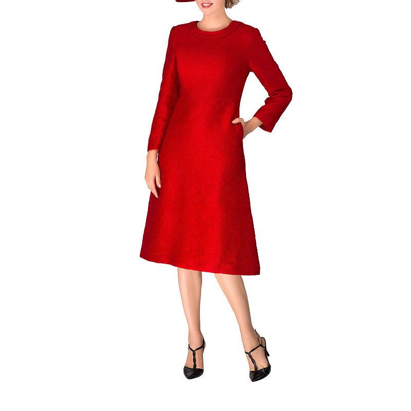 60s Dresses | 1960s Dresses Mod, Mini, Hippie Giovanna Signature Long Sleeve Brocade A-Line Dress $100.00 AT vintagedancer.com