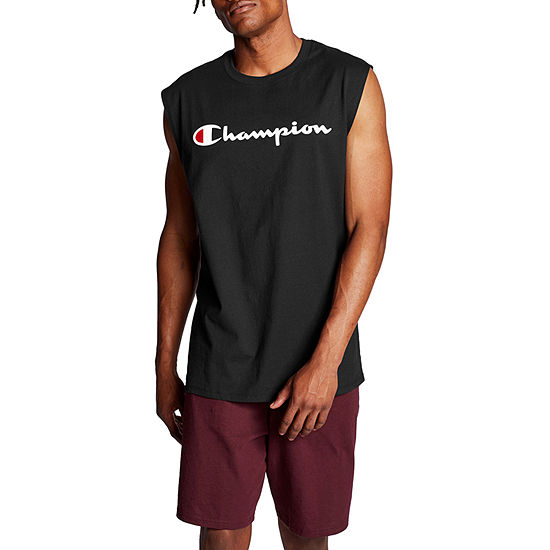 Champion Classic Graphic Mens Crew Neck Sleeveless Muscle T-Shirt