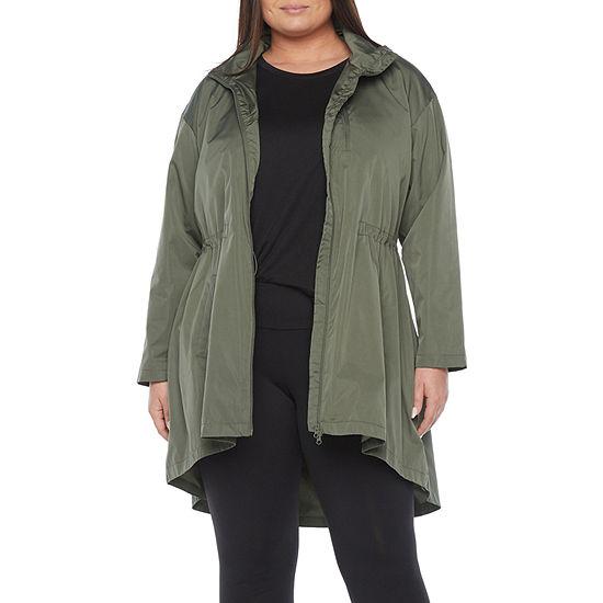 Stylus High Low Lightweight Raincoat-Plus
