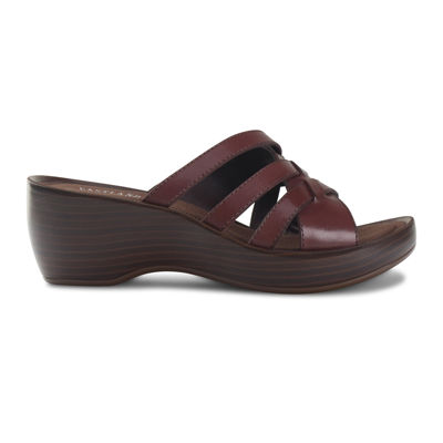 Eastland® Poppy Slip-On Leather Wedge Sandals