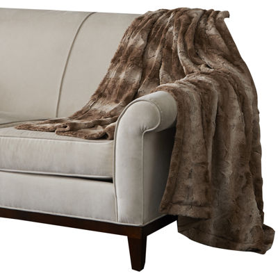 Madison Park Marcelle Oversize Faux-Fur Throw