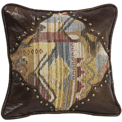 HiEnd Accents Ruidoso Scalloped Square Decorative Pillow