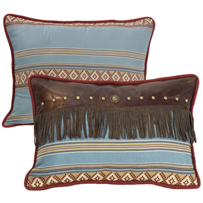 HiEnd Accents Ruidoso Fringe Oblong Striped Decorative Pillow