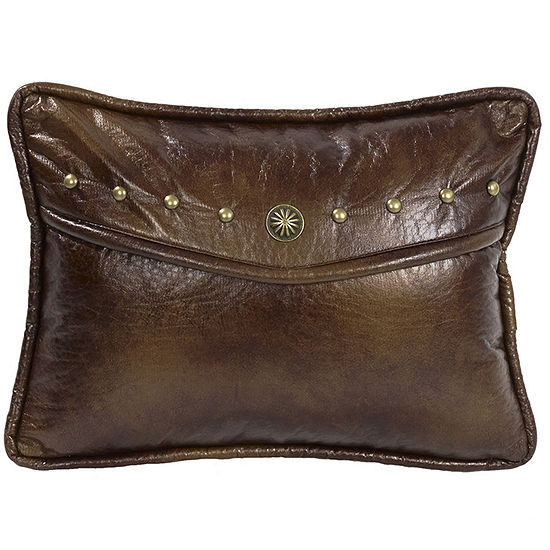 HiEnd Accents Ruidoso Faux-Leather Oblong Decorative Pillow