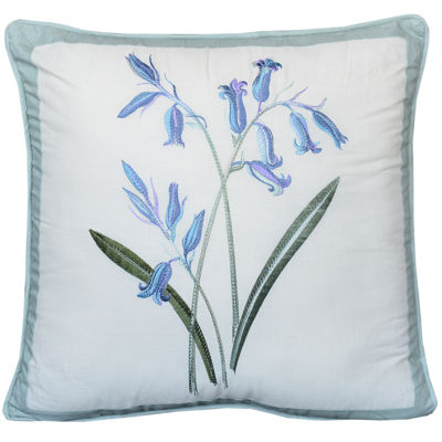 Nostalgia Home Josephine Blue Bouquet Square Decorative Pillow