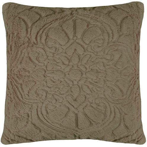Vue™ Charlotte Faux-Fur Square Decorative Pillow