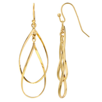 Gold Reflection Drop Earrings