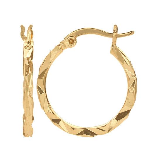 Gold Reflection Hoop Earrings