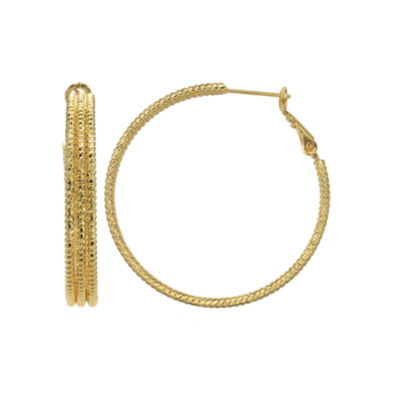 Gold Reflection 30mm Hoop Earrings
