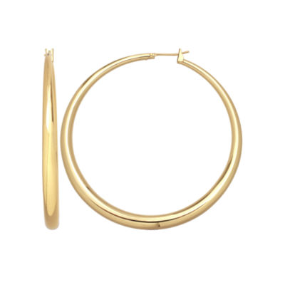 Gold Reflection 35mm Hoop Earrings