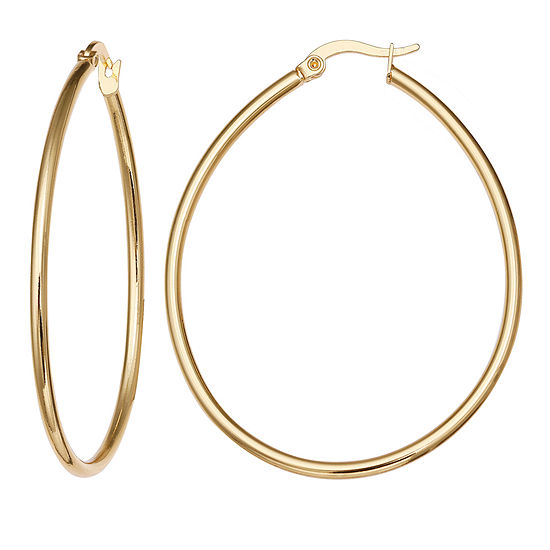 Gold Reflection 40mm Hoop Earrings