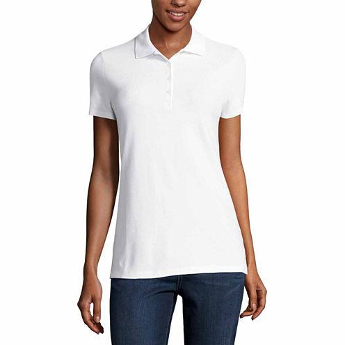 St. John's Bay® Short-Sleeve Polo Shirt - Tall