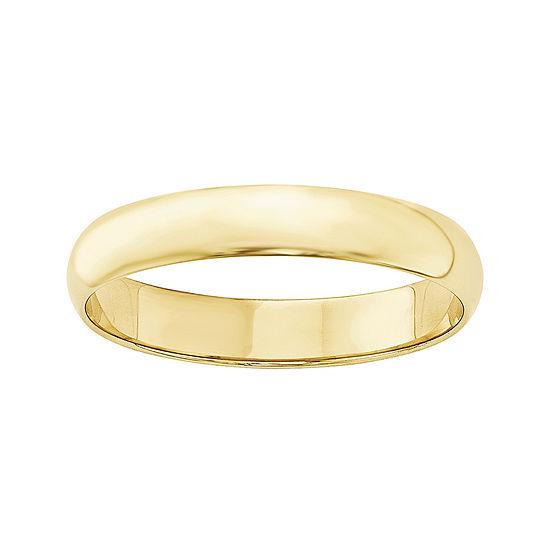 Mens 4MM 10K Gold Wedding Band