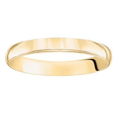 Unisex 3 Mm 14K Gold Wedding Band