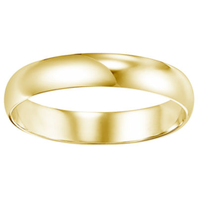 Unisex 4 Mm 14K Gold Wedding Band