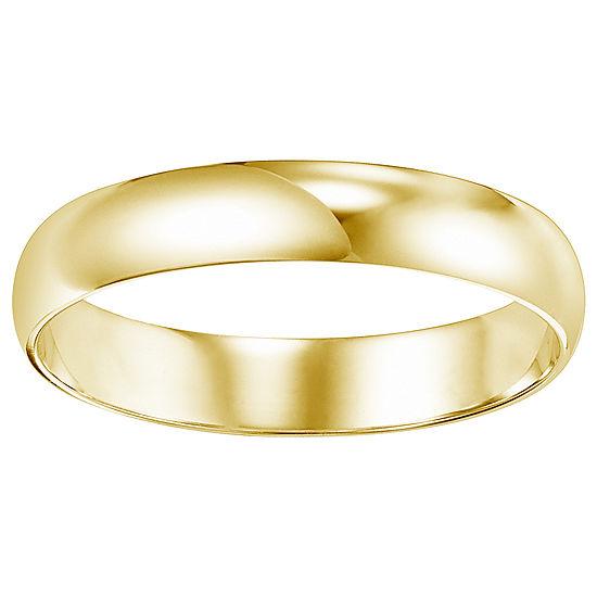 Unisex 4 Mm 14K Gold Wedding Band