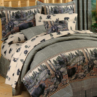 Blue Ridge Trading The Bears Comforter Set King Midweight Comforter Set