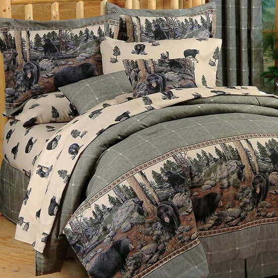 Blue Ridge Trading The Bears Comforter Set King Midweight Comforter Set