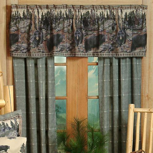 Blue Ridge Trading The Bears Rod Pocket 2-Pack Curtain Panels