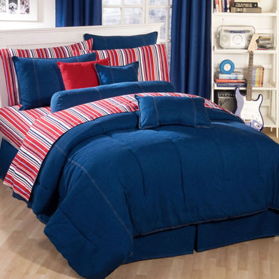 Karin Maki Blue Denim Comforter Set & Accessories