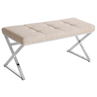 Vapor Faux Leather Tufted Bench