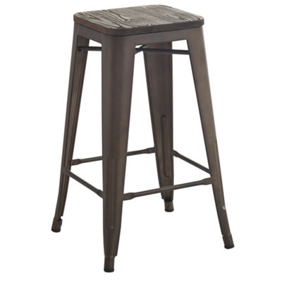 French Industrial 4-pc. Counter Height Bar Stool