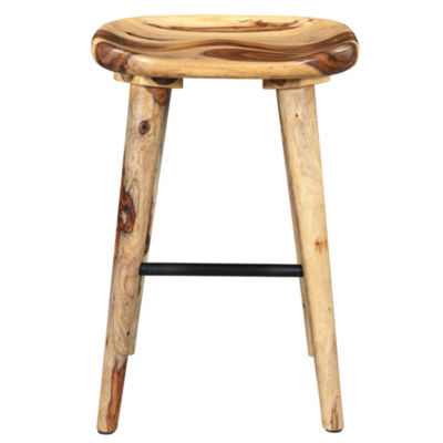 Wood Counter Height Bar Stool