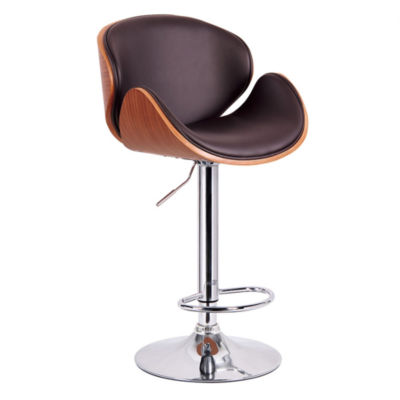 Hydraulic Lift Faux Leather Swivel Bar Stool